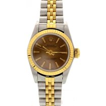 Rolex Ladies Rolex Oyster Perpetual 18K Yellow Gold & S/S...