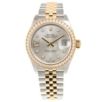 勞力士 (Rolex) Lady Datejust Gold Steel Diamond Silver Automatic...