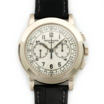 Patek Philippe New Old Stock  White Gold Chronograph Watch...
