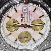 Breitling Chronomat Evolution 18K Gold MOP Diamond