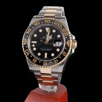 Rolex gmt-master II steel and gold black dial ceramic