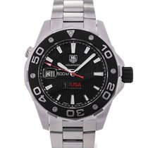 TAG Heuer Aquaracer Automatic Black Dial Calibre 5 Oracle Team...