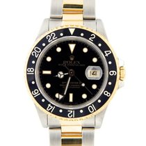 Rolex GMT Master II 2 Tone with Black Dial 16713