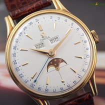 Omega Cosmic Triple Date Moon Phase 18K Yellow Gold  Vintage...