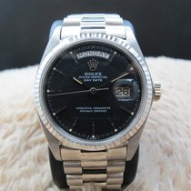 Rolex DAY-DATE 1803 18K White Gold with Original Matt Black Dial
