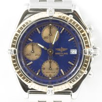 Breitling Chronomat Chonograph Rosegold Stahl Blaues Zifferblatt