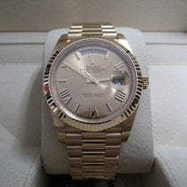 Rolex Day-Date 40 Champagne Faceted Roman Dial