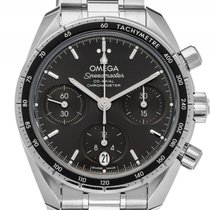 Omega Speedmaster Co-Axial Stahl Automatik Chronograph Armband...