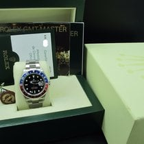 Rolex GMT MASTER 2 16710 Pepsi Red/Blue Bezel Z Serial Full...