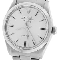 Rolex Oyster Perpetual Air-King Silver Stainless 5500 34mm Watch