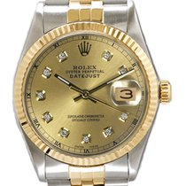 Rolex Men's Datejust Two Tone Fluted Custom Champagne...