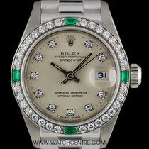 勞力士 (Rolex) 18k White Gold Diamond & Emerald Set Datejust...