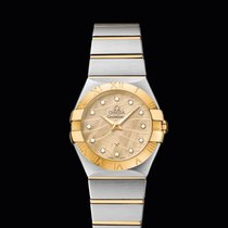 Omega Constellation quartz  Champagne Dial 27 mm T