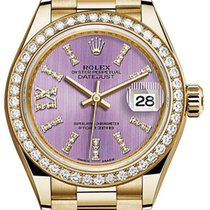 Rolex Lady-Datejust 28 279138RBR Lilac Diamond Bezel Yellow...