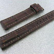 Tradema Crocoarmband 18mm Brown Dunkelbraun Für Dornschliesse...