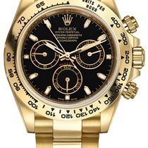 Rolex Cosmograph Daytona Yellow Gold 116508 Black Index Oyster