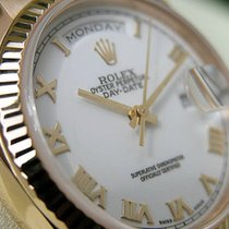 Rolex Day-date President 118238 Mens Yellow Gold 36mm White...