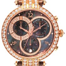 Harry Winston Premier 18K Rose Gold Chronograph Ladies Watch –...