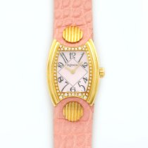 DeLaneau Yellow Gold Princess Diamond Watch