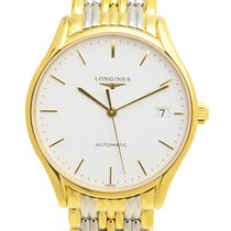 Longines Lyre Pvd Gold White Automatic L4.860.2.12.7