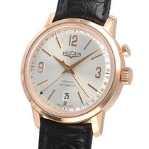 Vulcain 50s President watch pink gold silver dial