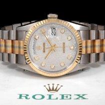 Rolex 18239 Tridor Day-Date - Silver Jubilee Diamond  Dial