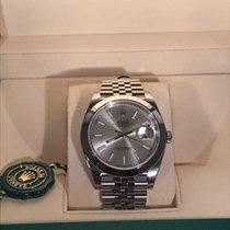 Rolex Datejust 41 jubilee silver index