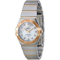 Omega Constellation Brushed Quartz White 12320276055001