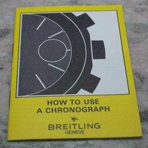 Breitling vintage booklet for chrono models english language...