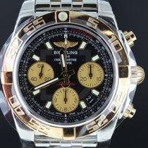 Breitling Chronomat 41mm Gold/Steel Black Dial, Full Set
