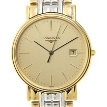 Longines Presence Gold-plated Stainless Steel Gold Quartz...