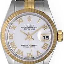 Rolex Ladies Datejust 2-Tone Watch Mother of Pearl Roman Dial...