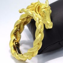 Hermès A 18-karat Gold Vintage Very Rare Horse Bracelet Bangle...
