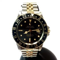 Rolex Oyster Perpetual Gmt-master 18k Gold & Steel Mens...