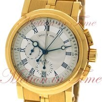 Breguet Marine II Chronograph, Silver Dial - Yellow Gold on...