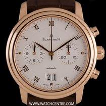 Blancpain 18k R/G Silver Roman Dial Villeret Chronograph 6885...