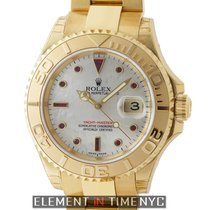 Rolex Yacht-Master 18k Yellow Gold Mother Of Pearl Ruby Dial Y...