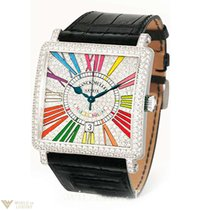 Franck Muller Master Square Color Dreams 18k White Gold &...
