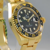 Rolex GMT-Master II 18kt Yellow Gold Black Dial-116718LN