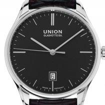 Union Glashütte Viro Datum Stahl Automatik Armband Leder 41mm...