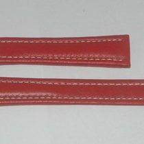 Breitling Leder Armband Band 19mm 19-16 Für Faltschliesse Neu Rot