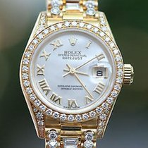 Rolex Ladies 18k Yellow Gold President 26mm Model 69178...