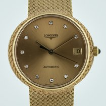 Longines Automatic, 18k Yellow Gold and Diamonds, Cal 351