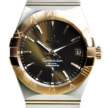 Omega Constellation 18k Rose Gold And Steel Bround Automatic...