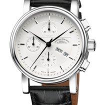 Mühle Glashütte Teutonia II Chronograph Silver Dial-Leather...