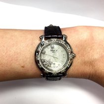 Chopard Happy Sport Ss Ladies Watch W/ Factory Diamonds &...
