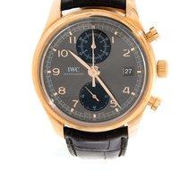 萬國 (IWC) - Portuguese Chronograph 18k Pink Gold - IW390405 -...