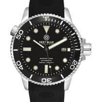 Deep Blue Master 1000 Automatic Dive Watch 44mm Case Black...