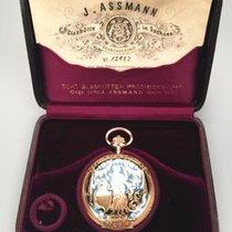 J.Assmann Glashutte vintage hunting case pocket watch