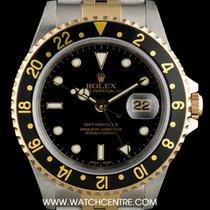 Rolex S/S & 18k Y/G Black Dial GMT-Master II NOS B&P...